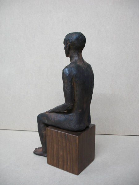 Philip Egyptian, terracotta sculpture 25cm with pigments.