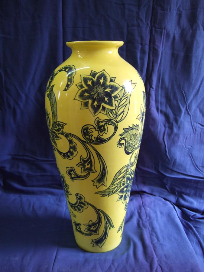 Jarrón de cerámica esmalte